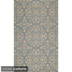 Momeni Suzani Hook Blue Hand-Hooked Wool Rug (3'6 X 5'6) - Free Shipping Today - Overstock - 16342647