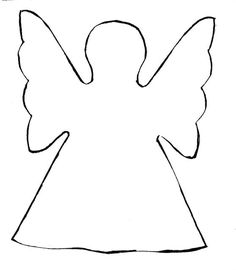 Angel pattern. Use the printable outline for crafts