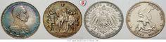 RITTER Preussen, Wilhelm II., 3 Mark 1913, J. 110 & J. 112 #coins
