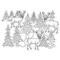 forest animal Hand Quilting Patterns   Default Pattern Height: 12.04