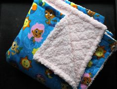 Bubble Guppies Blanket - Choose Colors & Size- Baby Blanket - Big Kid Blanket - Minky Baby Blanket on Etsy, $35.00