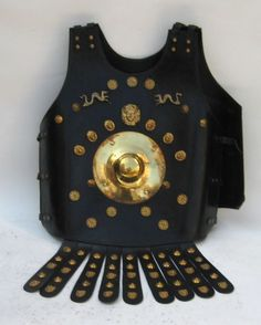 Leather Armor Jacket w/ Brass Accents ~ Medieval Knight Crusader ~ LARP Costume