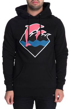 Pink Dolphin The Waves Hoodie in Black // $80.00