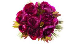 Wedding Bouquets: Beautiful Bouquets For Every Season (PHOTOS); Peony and Pinecones, December