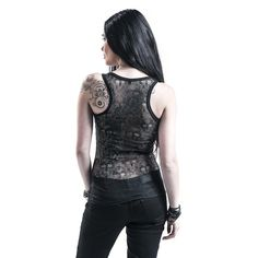 "Black Premium by EMP Top, Frauen ""Skull Lace Tank"" schwarz • EMP"