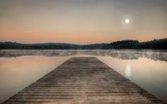 Lakes Piaseczno - Lake, Piaseczno, Moon, Poland, Pier