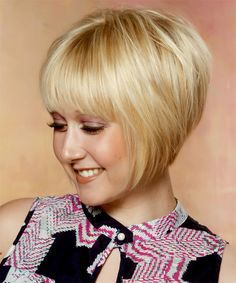 Short Straight Formal Bob Hairstyle with Layered Bangs Light Golden Blonde Hair Color with Light Blonde Highlights Hair Hair Flowers Veils Short Permed Hair, Short Straight Hair, Short Hair Cuts, Short Hair Styles, Long Hair, Short Layered Bob Haircuts, Short Bob Hairstyles, Short Bobs, Stacked Hairstyles