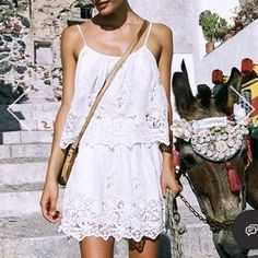 Spell & The Gypsy Collective Dresses & Skirts - Spell Designs Magnolia White Lace Mini Skirt S