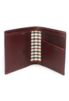 Oxblood Brown Leather Card wallet from Gnome and Bow in brown_1