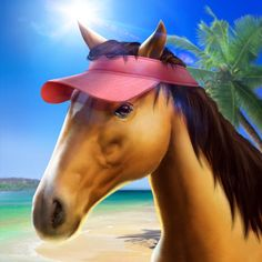My Horse http://bombapps.net/app/us/ios/my-horse/421167112/  Become horse owner without leaving home. Take care of it, because healthy, well-fed horse brings good results. Attend your friends' stables and train for competition, enjoying beautiful graphics.