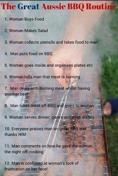 Aussie BBQ Routine - I think this is an international phenomenon. ;)