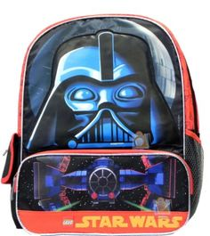 16f74d7af1fe Lego Star Wars Darth Vader Large Backpack Boys School Book Bag 16    You  can find out more details at the link of the image.Note It is affiliate  link to ...