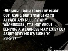 Not afraid to admit weakness, but definitely not allowing it to persist! Train smart!