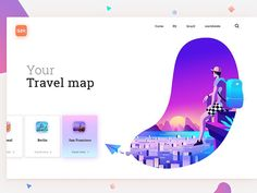 What places do you know? Which ones do you still want to visit? Interface design and illustration for website GZH. :) L for LOVE!