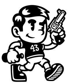 Cartoon Drawing Sample 43 on Behance - 1930s Cartoons, Dope Cartoons, Dope Cartoon Art, Cartoon Drawings, Character Illustration, Graphic Illustration, Doodle Art, Arte Punk, Graffiti Characters