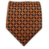 Ties - Checkers - Navy/Orange - Ties