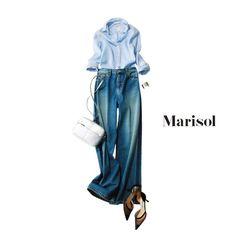 ドレスコードがデニムのパーティに参加。足もとで女っぷりを感じてMarisol ONLINE|女っぷり上々!40代をもっとキレイに。