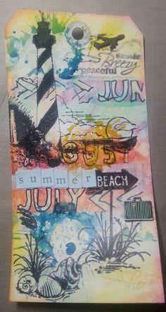 Mixed media tag 52 Weeks, Artist Trading Cards, Mail Art, Atc, Mixed Media Art, Art Projects, Scrapbook, Art Journals, Bookmarks