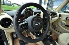 The Insides of the Mini Goodwood. Created by Rolls-Royce Motor Cars' chief interior designer Alan Sheppard, at the Iconic British marque's Goodwood home..