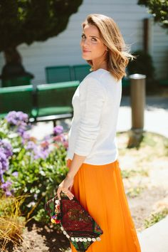 From galmeetsglam.com love her skirt.... the color!