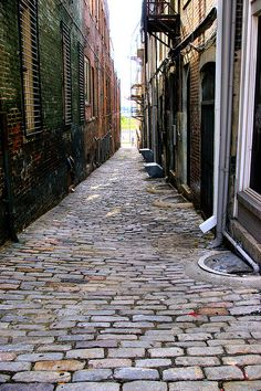 the only remaining cobblestone alley in memphis, tennessee.