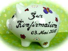 Sparschwein XL  Nr. 83 Konfirmation von *M&M Bastelparadies* auf DaWanda.com