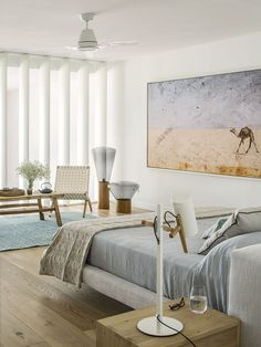 This impressive, beachfront apartment of 300m2 is located in Colonia de Sant Jordi with direct access to the beach. The property, built with modern interiors and furnishings in Scandinavian style<br />  is the ideal place for a relaxing holiday. It is just a 40 minutes <br /> drive from the the airport and located next to the most spectaculars <br /> beaches on the island such as Es Trenc and Es Carbo. Ground Floor: large kitchen, large dining room and living ...