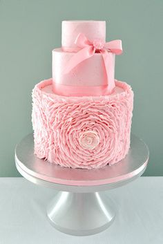The Sugar Nursery's Ruffle Rose Cake