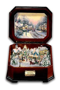 Thomas Kinkade, I have the pleasure of owning one of these! I absolutely love Thomas Kincaid all of his art is magical and breathtaking! There is no other artists in my opinion and current times that is as good as Thomas Kincaid! I really hope you enjoy all the pictures and the meaning behind them, he was truly an amazing artist who love God and I believe his pictures were heavenly! ❤️