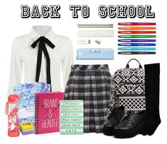 """""""14/01/16   Back To School"""" by quach-anna ❤ liked on Polyvore featuring Nikki Strange, Proenza Schouler, Vera Bradley, Simple Pleasures, Paper Mate, Kate Spade, Post-It, Ted Baker, Eccolo and aqoi"""
