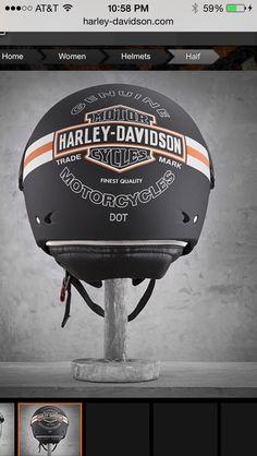 Women's Enthusiast Helmet Harley Davidson Online Store, Harley Davidson Motorcycles, Riding Gear, Riding Helmets, Chopper Helmets, Custom Helmets, Hard Hats, Biker Chick, Biker Style