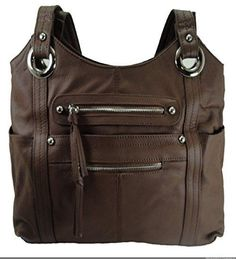 Concealment Gun Purse for Right or Left Hand Draw with Lock-Brown - Handbags, Bling & More!