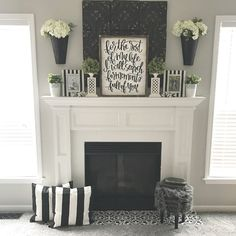 Are you tired of your ugly fireplace tile? Looking for easy DIY ways of painting fireplace tile and ways to update your fireplace? See these 9 beautiful DIY painted fireplace projects! Paint Fireplace Tile, Fireplace Set, Fireplace Cover, White Fireplace, Farmhouse Fireplace, Fireplace Remodel, Fireplace Surrounds, Fireplace Design, Fireplace Ideas