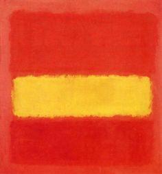 """""""Yellow band,"""" Mark Rothko."""