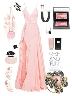 """""""Pretty in it"""" by riquee ❤ liked on Polyvore featuring Alex Perry, Alexander McQueen, MAC Cosmetics, Burberry, Chantecaille, Lynn Ban, Nuit N°12, Andara and Voluspa"""