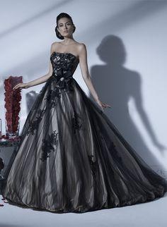 ETERNITY BRIDAL  Style: D5144 black wedding dress