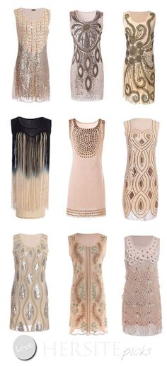 15 Gatsby Style 1920s Flapper Dresses You Can Buy Under $30 Dollars                                                                                                                                                                                 More