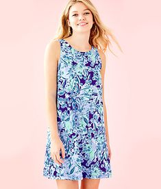 NWT Lilly Pulitzer Little Lilly Classic Shift Coastal Blue Maybe Gator Size 10