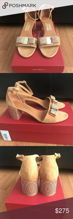 Salvatore Ferragamo sandals size 37.5 Salvatore Ferragamo sandals size 37.5, brand new and authentic. Comes with replacement Ferragamo box Nd dustbag. Bought from Nordstrom Rack. This has been on display and tried on at the store. Salvatore Ferragamo Shoes Sandals