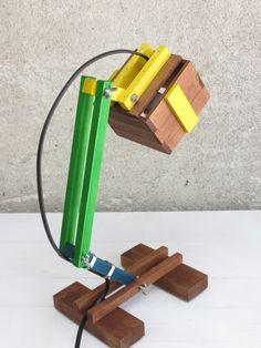 Kran I, special edition multicolor adjustable desk lamp colorful wood wooden…