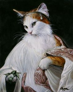 "CATS~ ""Catnip Bearer"", By Melinda Cooper~ From The Original Painting Of Flora by Titian."
