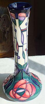 "Moorcroft 8"" vase 99/8 Charles Rennie Mackintosh R Bishop 1st Quality 2003 | eBay"