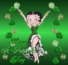 Happy St. Patrick's Day Betty Boop green friend gif betty boop comment greeting st patricks day