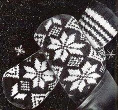 Vintage Mens Two Needle Norwegian Mittens Knitting by dianeh5091, $2.99