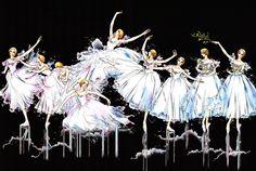 """Giselle"", act 1 ""Swan"" by Kyoko Ariyoshi Manga Art, Shoujo Manga, Abstract Art Painting, Fantasy Characters, Kyoko, Manga Covers, Manga Illustration, Shojo Manga, Art Pictures"