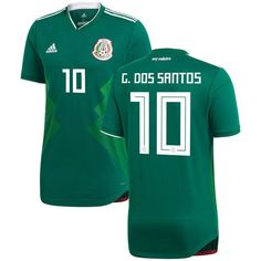 HOME/PERSONALIZE JERSEYS/GIOVANI DOS SANTOS #10 MEXICO 2018-2019 HOME JERSEY NEW