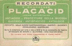 Placacid Recordati - anni Cinquanta / Sessanta - dono del Dott. Natale Spineto