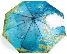 World Map Style 3 Folding Umbrella