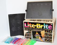 1980s lite brite - and barely being allowed to play it because mom never wanted to be stuck picking up the ten million pieces it came with! Lol.