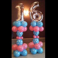 Sweet 16 Balloons in arches, centerpieces, canopies, columns and sculptures add to the festive feel of this special celebration.